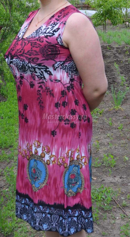 89612aa3991 Мастер-класс. Летнее платье-сарафан из вискозы своими руками
