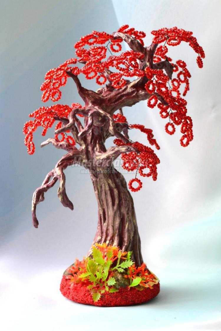 1433155279_44 Доброго дня всем))) Красное деревце из бисера.Моя новая краса=)