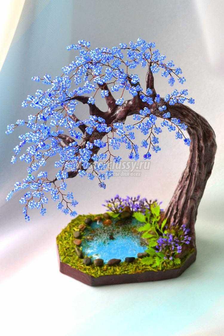 1433156666_49 Золотое дерево из бисера своими руками. Пошагово