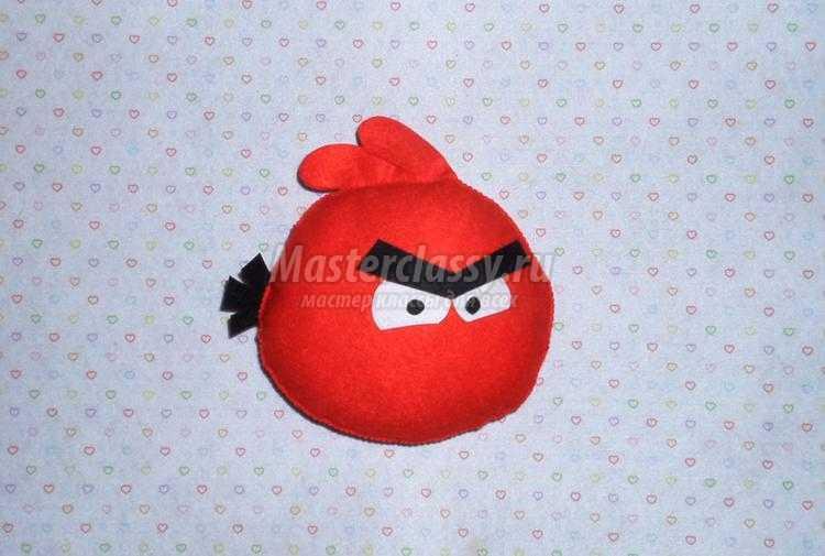 поделки из фетра. Птичка из игры Angry Birds