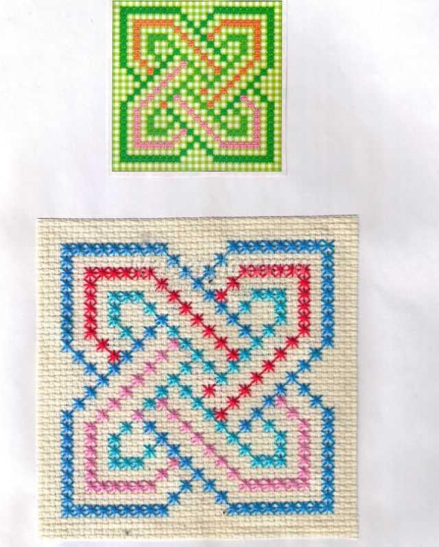 Вышивка болгарским крестом схемы