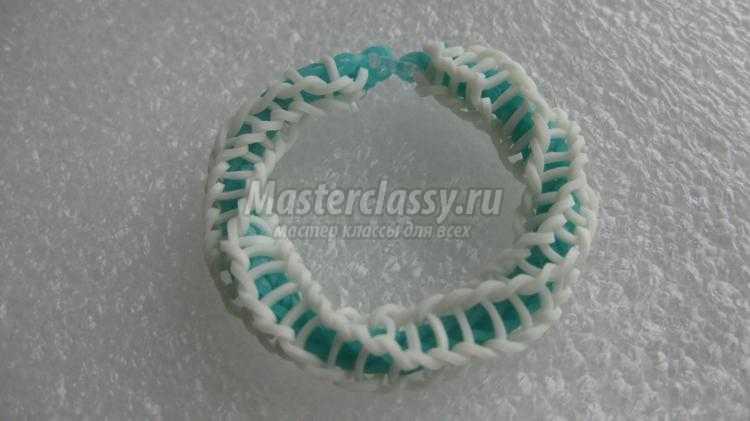 плетение из резинок браслет. Спираль