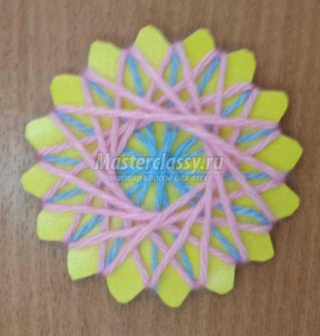 цветок в технике спирелли