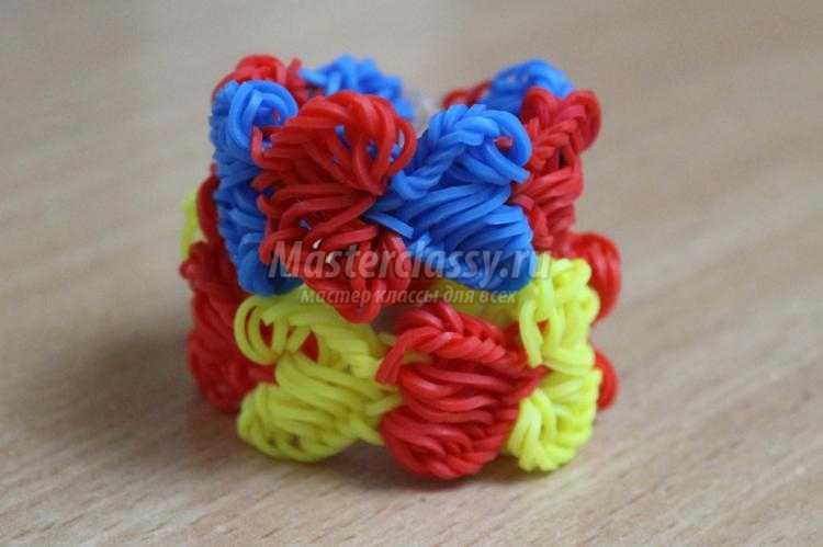Плетения браслетов резинками сердечком
