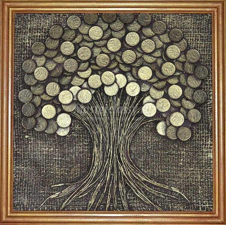 Дерево своими руками панно