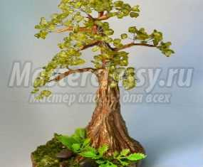 Деревья из камней. Зеленая сосна. Мастер-класс с пошаговыми фото