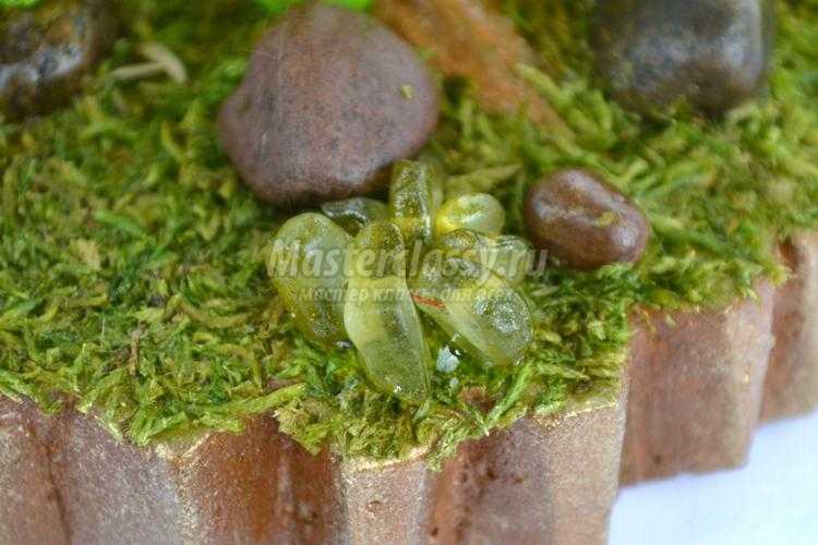деревья из камней. Зеленая сосна