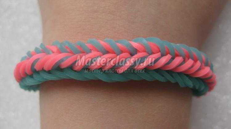 Плетение из резинок браслеты триада