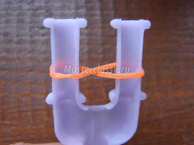браслет из резинок на рогатке. Велосипедная цепь
