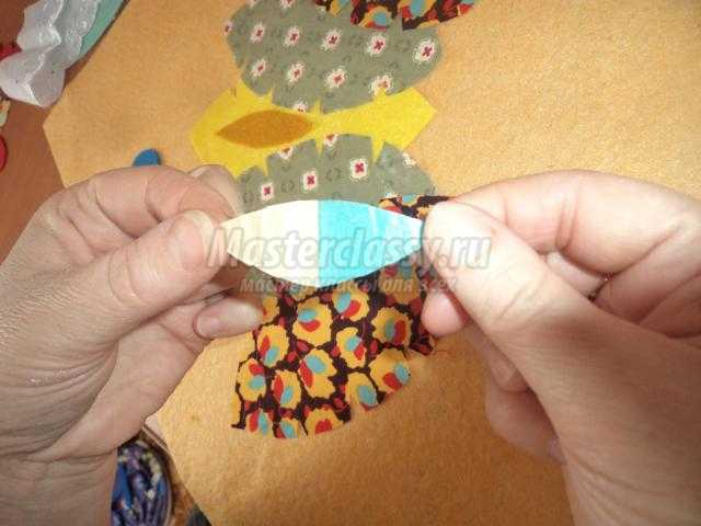 картина из ткани своими руками. Курочка Ряба
