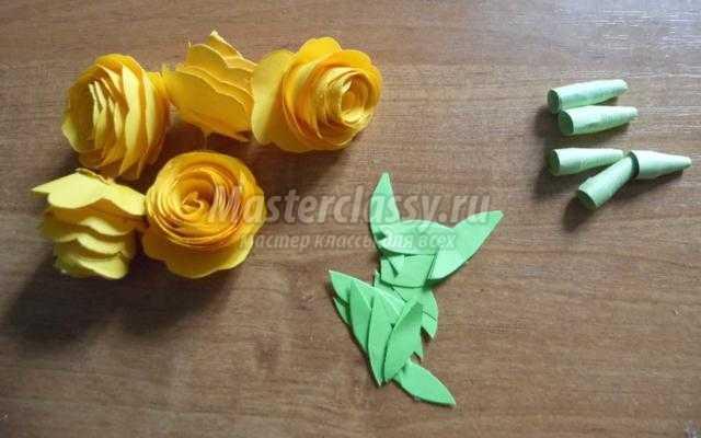 цветы из бумаги в технике квиллинг. Розы