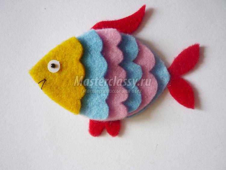 игрушки из фетра своими руками. Рыбка