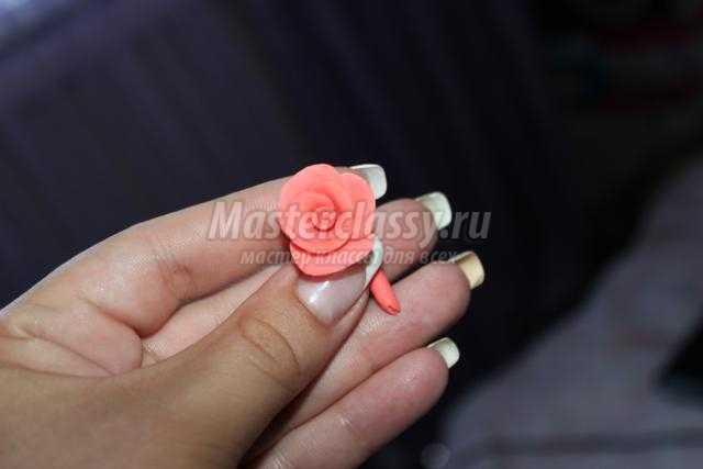 розы из массы для лепки