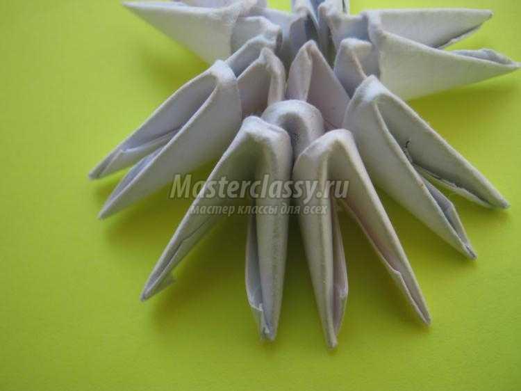 модульное оригами. Объемная снежинка