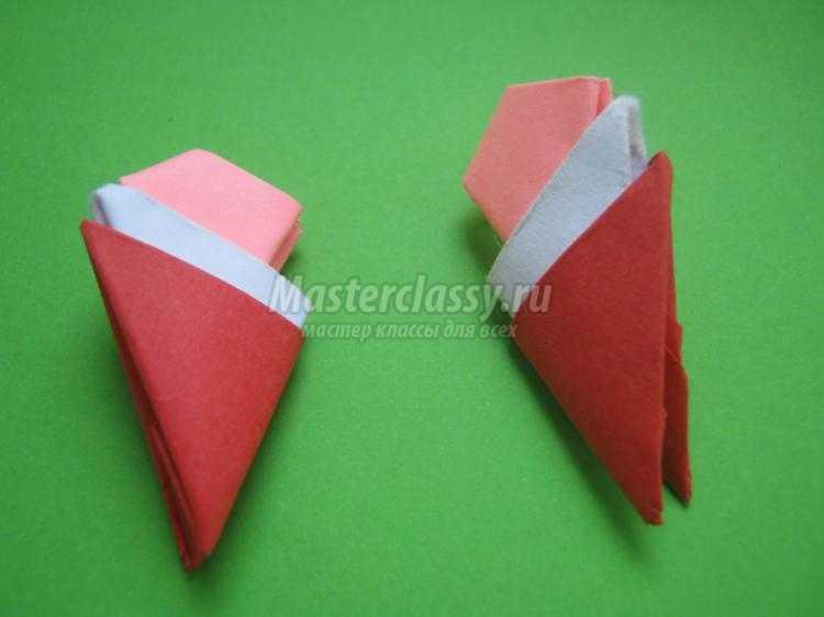 Санта-Клаус в технике модульное оригами