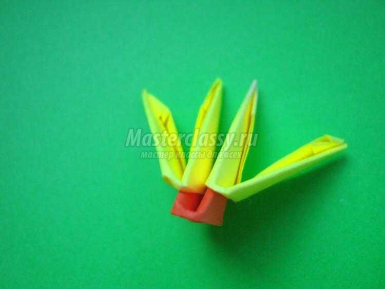 бабочка в технике модульное оригами