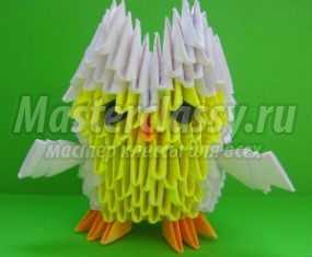 Филин в технике модульное оригами. Мастер-класс с пошаговыми фото