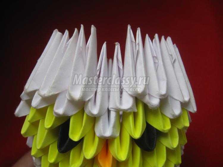 филин в технике модульное оригами