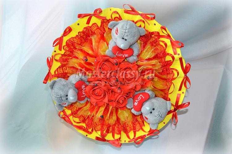 1438141323_36 Яркий букет из мишек Тедди. Мастер-класс с пошаговыми фото