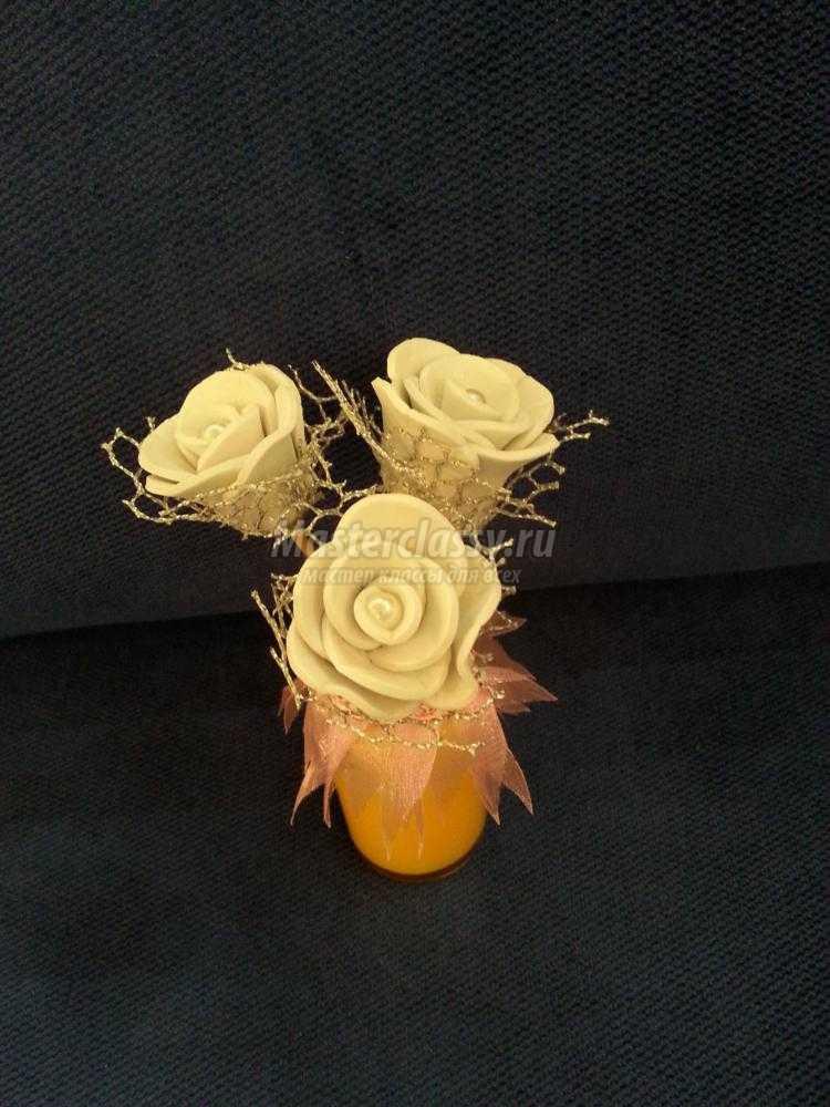 розы из фоамирана для ароматизатора