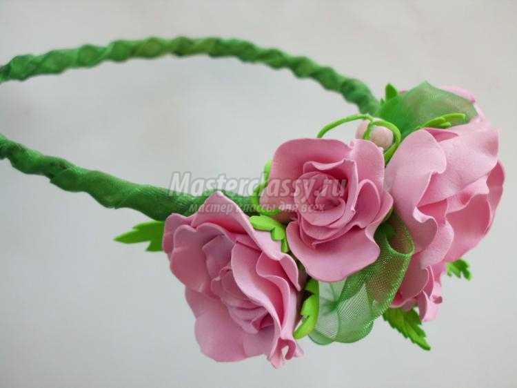Ободок на резинке цветком своими руками