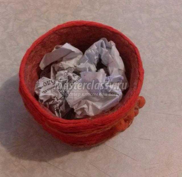 фиалки из ткани в горшочке