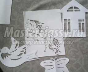 Поделки из бумаги в технике вытынанка. Мастер-класс