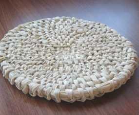 Подставка из кукурузных листьев. Мастер-класс с пошаговыми фото