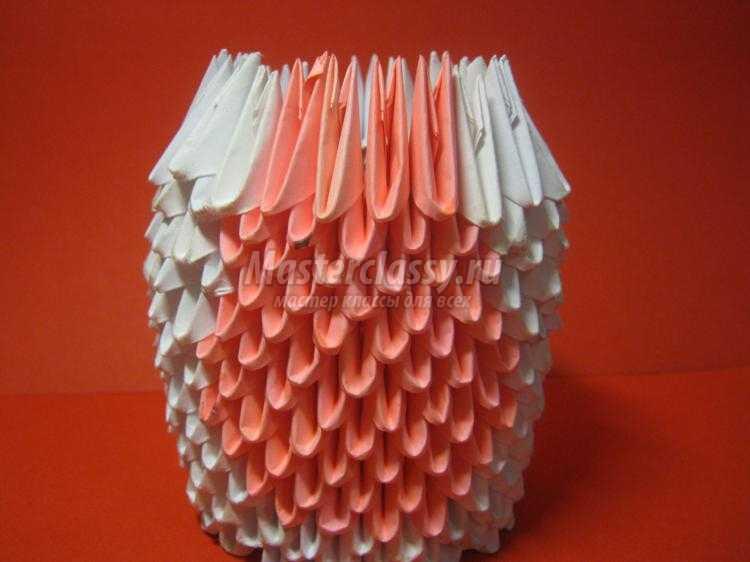 модульное оригами. Кошка