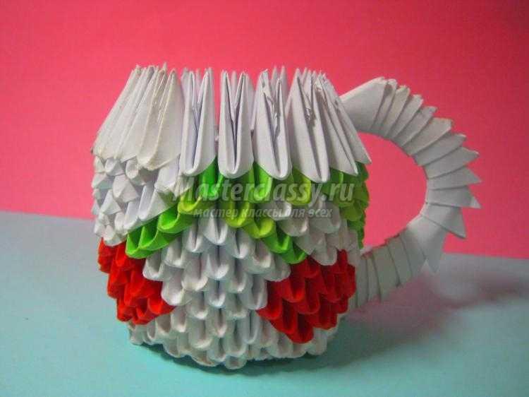 Кружки из модульного оригами