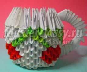 Модульное оригами. Кружка «Вишенки». Мастер-класс