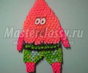 Модульное оригами. Патрик. Мастер-класс с пошаговыми фото