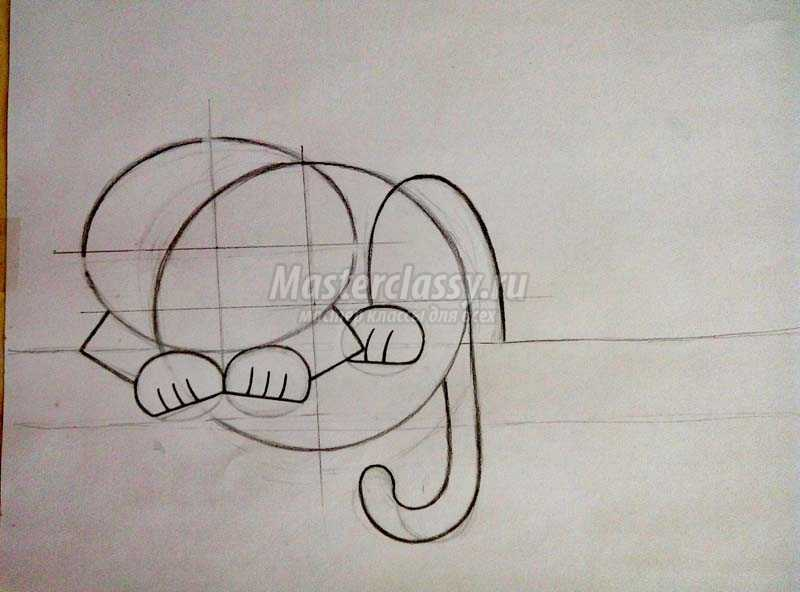 как нарисовать чеширского кота поэтапно