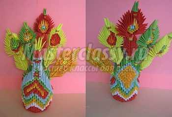 Модульное оригами: павлин. Пошаговый мастер-класс