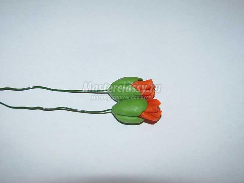 комплект из цветов холодный фарфор