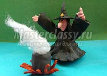 Поделки на Хэллоуин. Ведьма. Мастер-класс