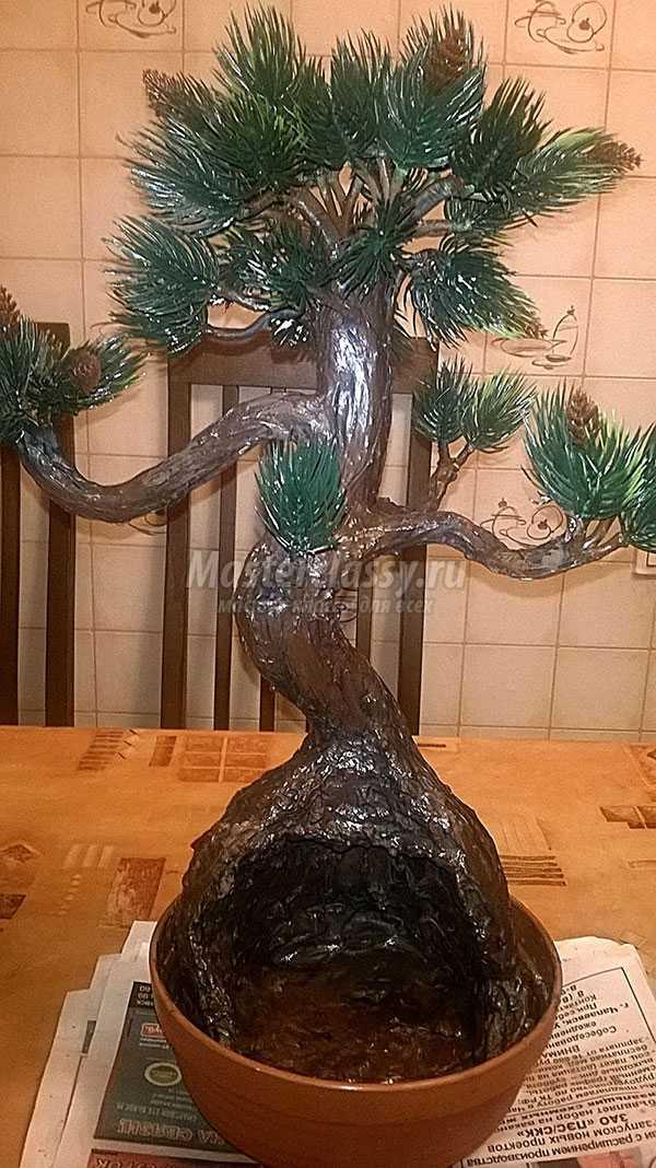 пошаговый мастер класс дерево бонсай