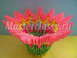 Конфетница. Модульное оригами: пошаговый мастер-класс