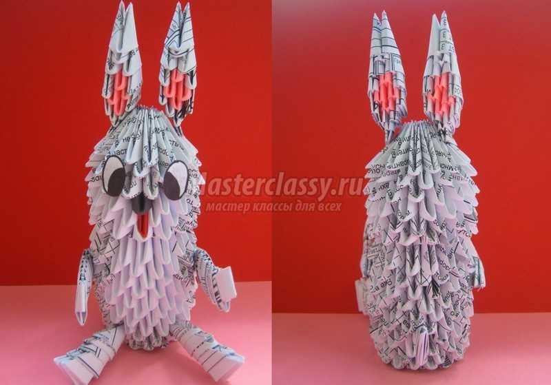 Как сделать кролика из бумаги оригами 40