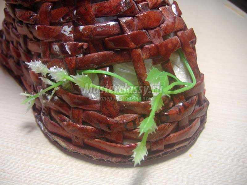 топиарий из органзы пошаговое фото
