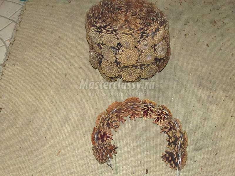 корзинки из шишек фото