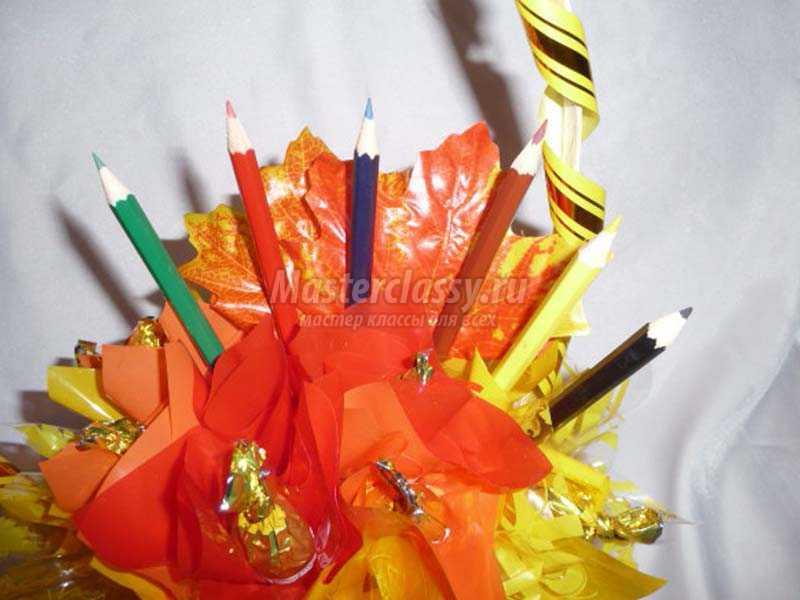конфетные корзинки своими руками