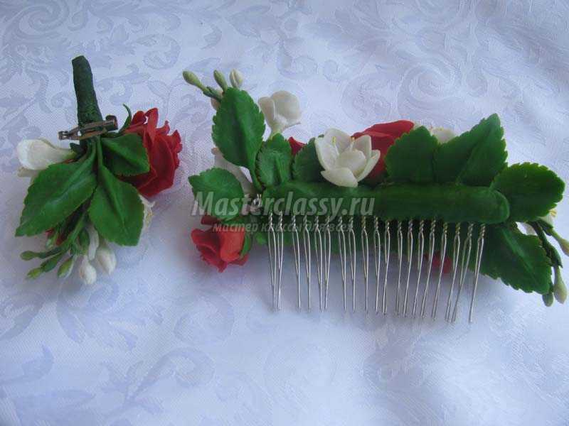 украшения для волос из холодного фарфора