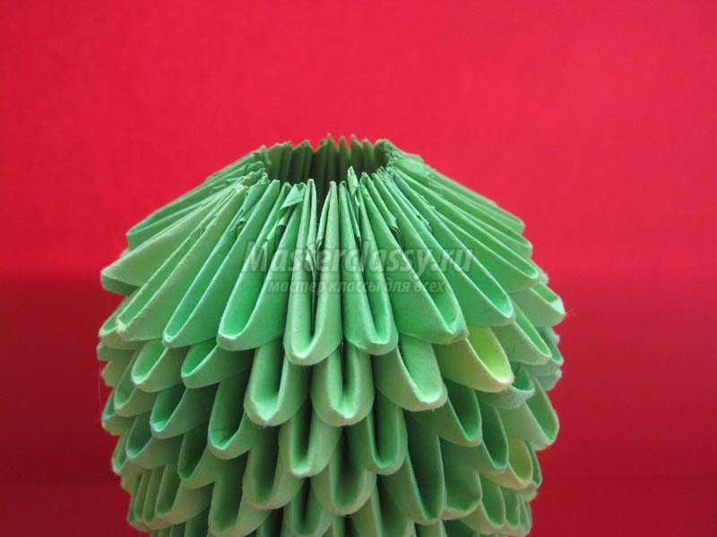 модульное оригами лягушка