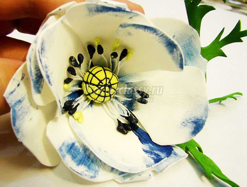 как делать цветы из фоамирана