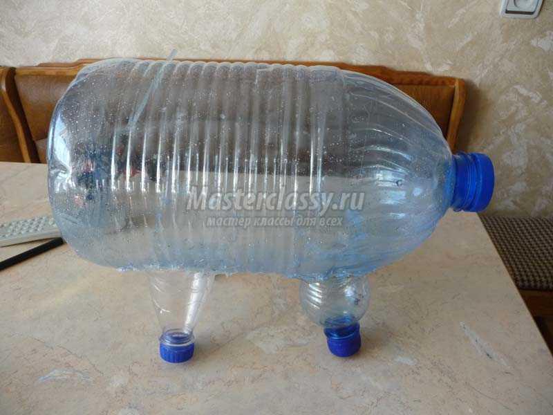 поросята из пластиковых бутылок фото