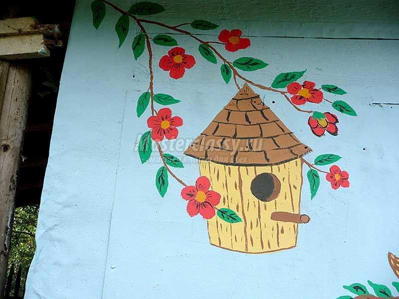 как украсить дачный домик своими руками фото