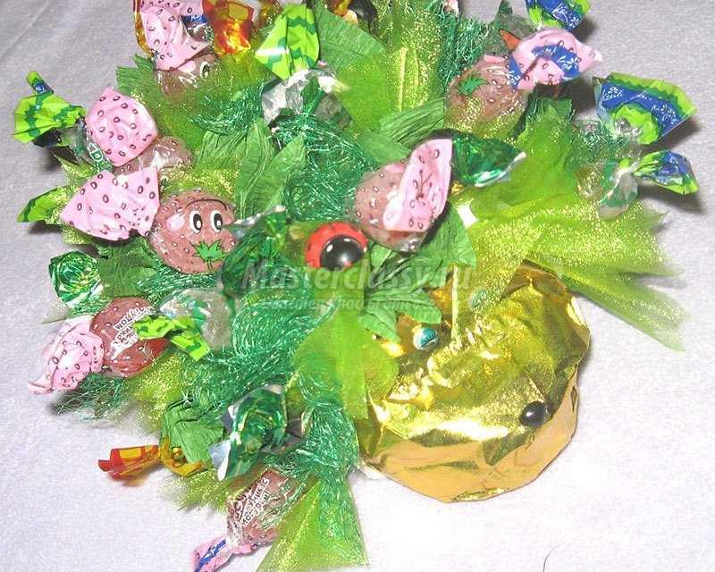 детские букеты из конфет своими руками фото