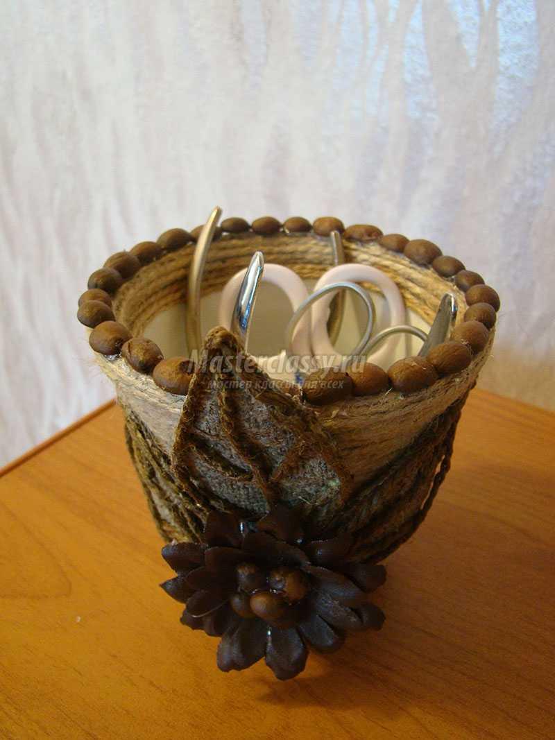 ваза из шпагата мастер класс