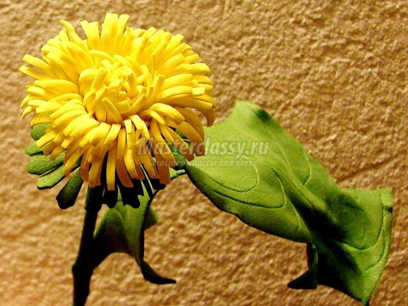 фоамиран цветы одуванчик